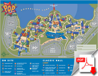 hotel disney orlando pop century, plan du site